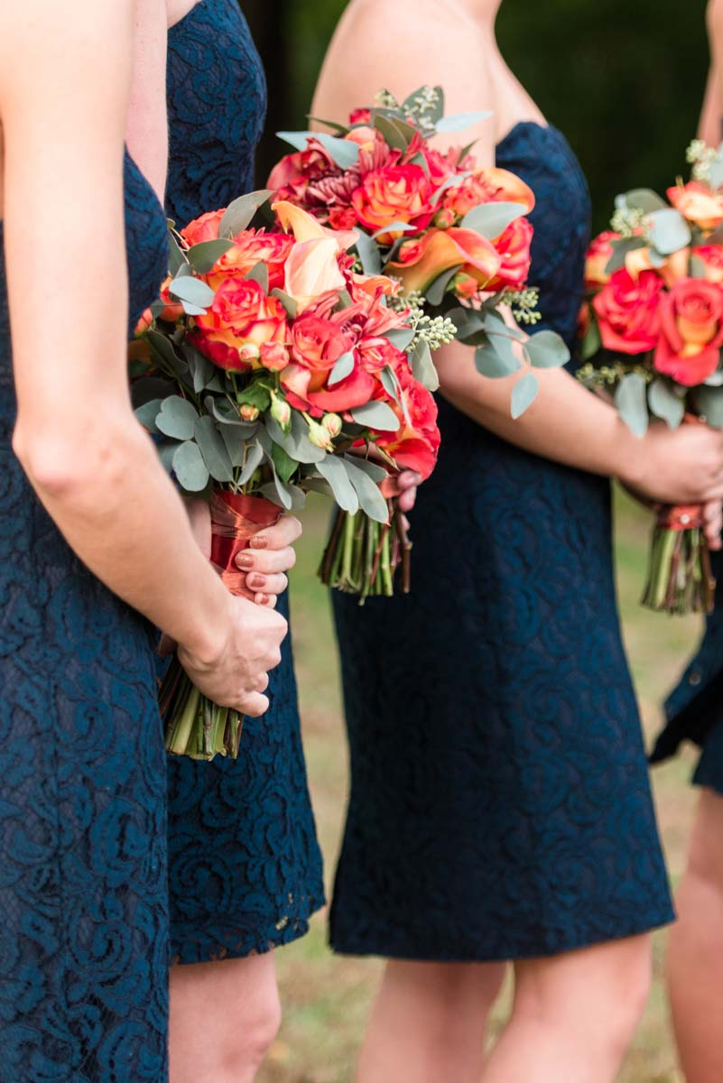 Red Fall Wedding Flower Bouquets