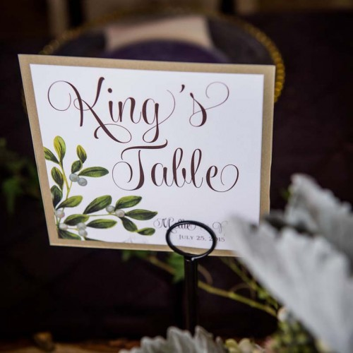 King's Table Wedding Reception