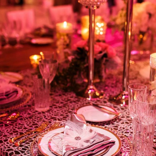 Gold Wedding Table Decor