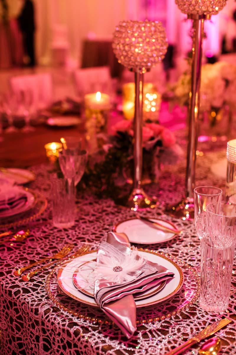 Gold Wedding Table Decor