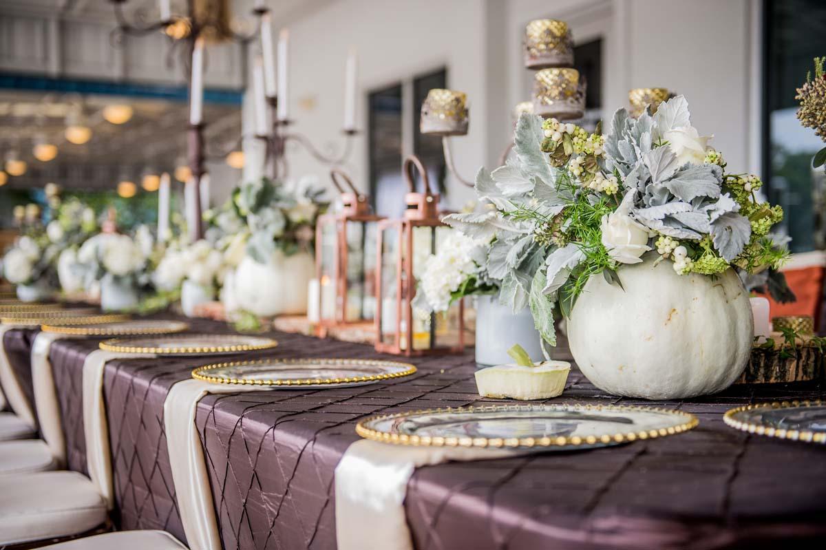 White Pumpkin Wedding Designs