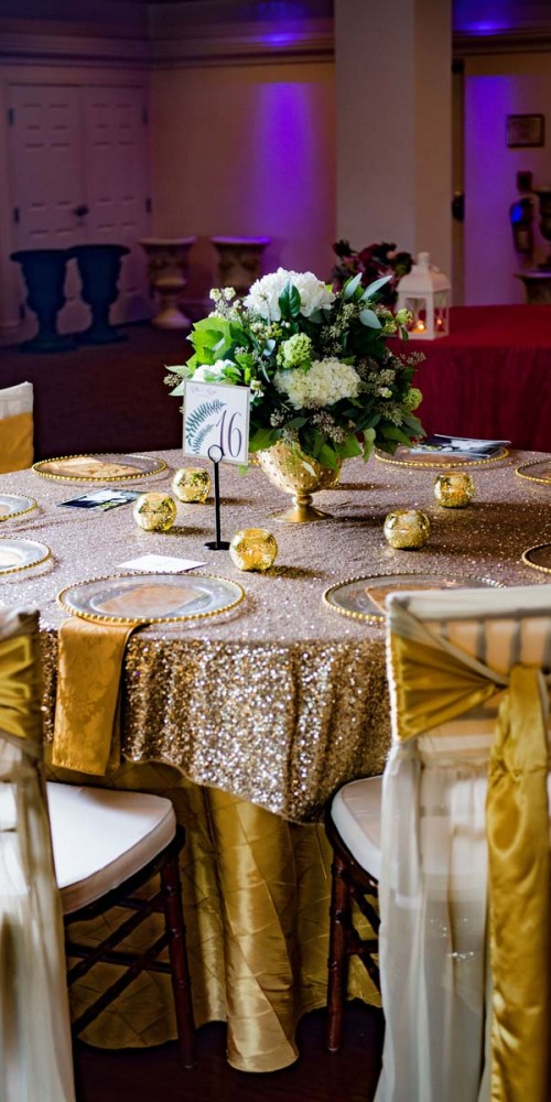 Sequin Wedding Decor