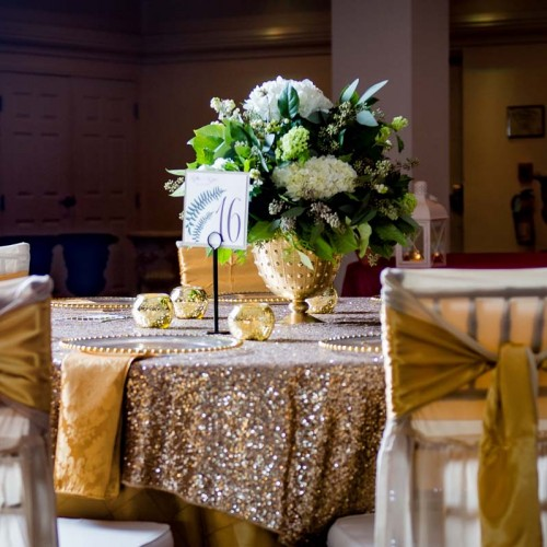 Gold Wedding Linens
