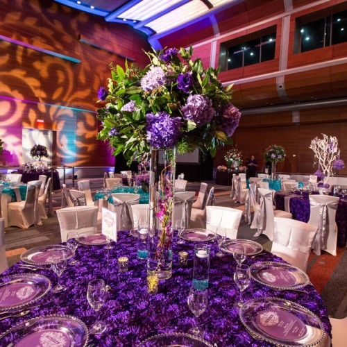 Purple Wedding Table Clothes