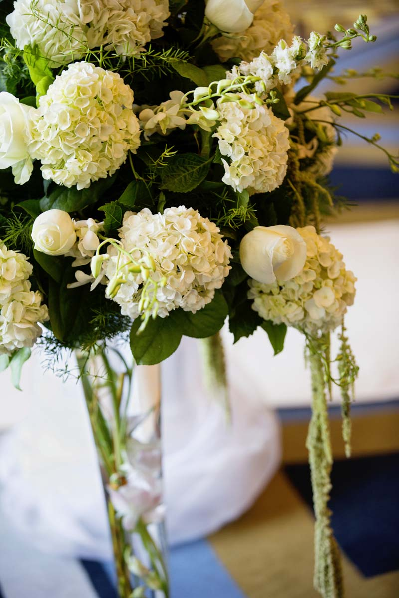 White hydrangea wedding flowers