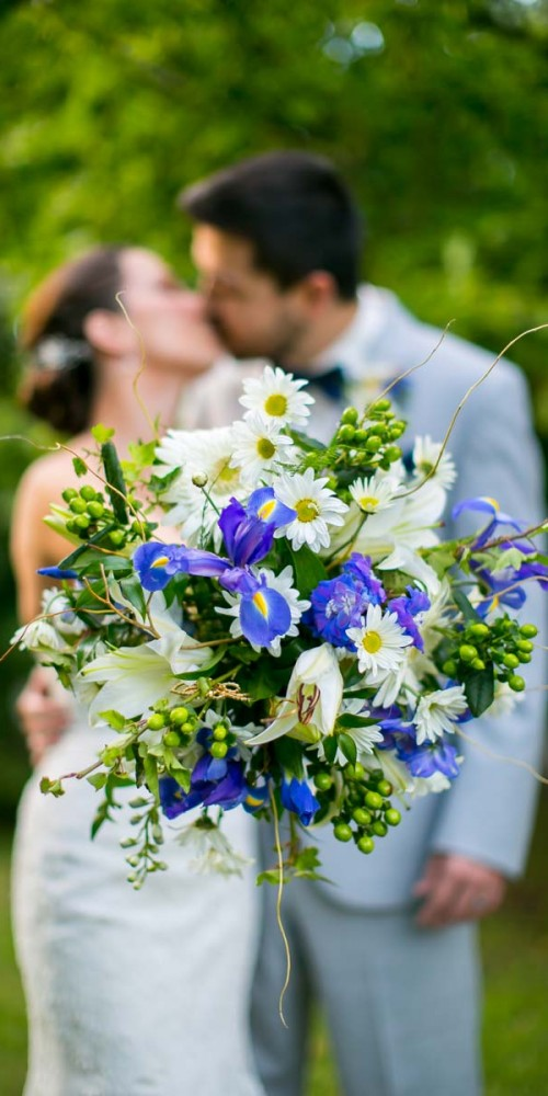 Wedding Flower with Irises