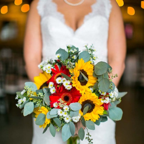 Sunflower Wedding Bouquets
