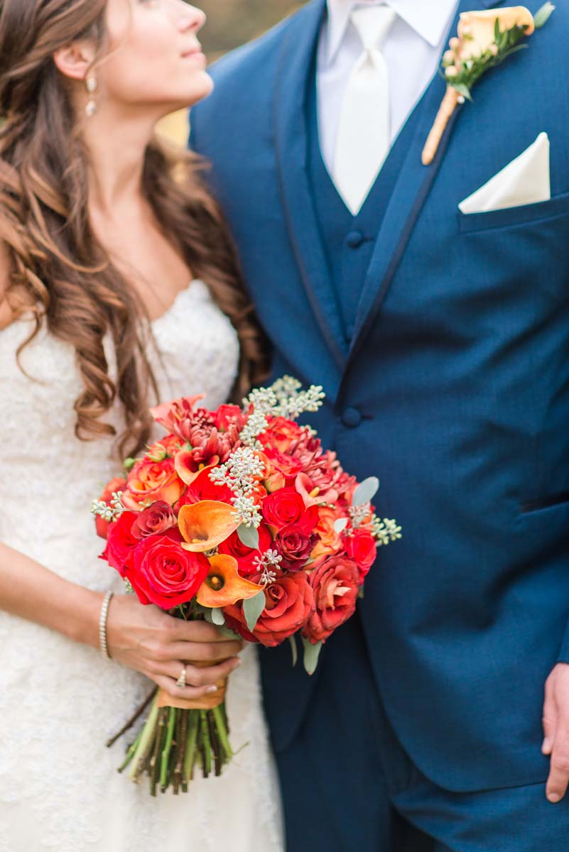 Red Wedding Bridal Bouquets