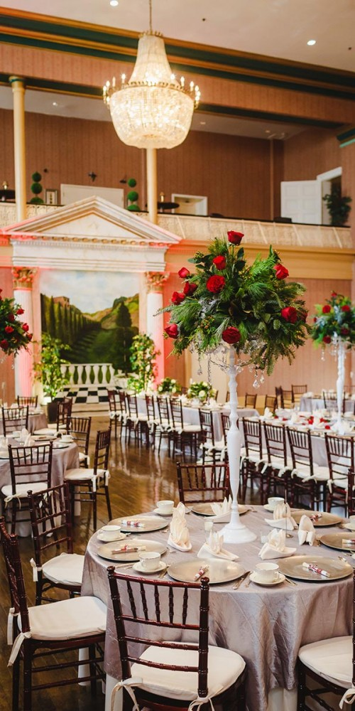 christmas wedding reception decor