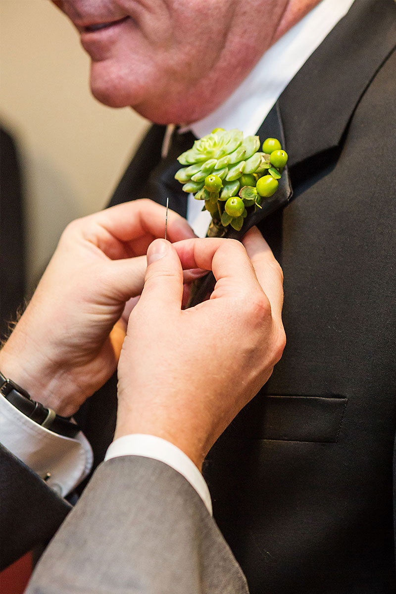 Succulent Wedding Boutonnier