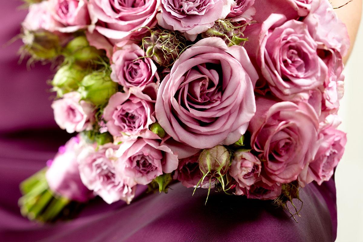 Pink Roses Wedding Flowers