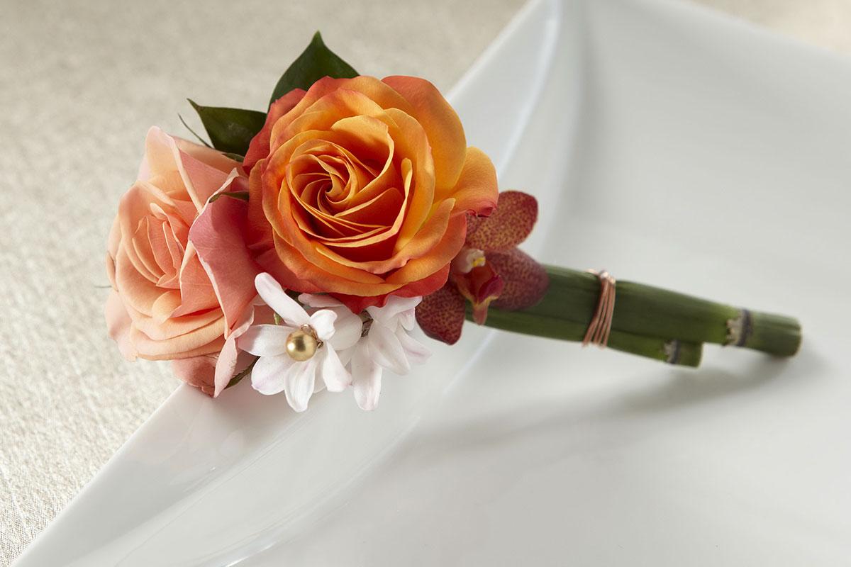 Orange Flower Boutonnier