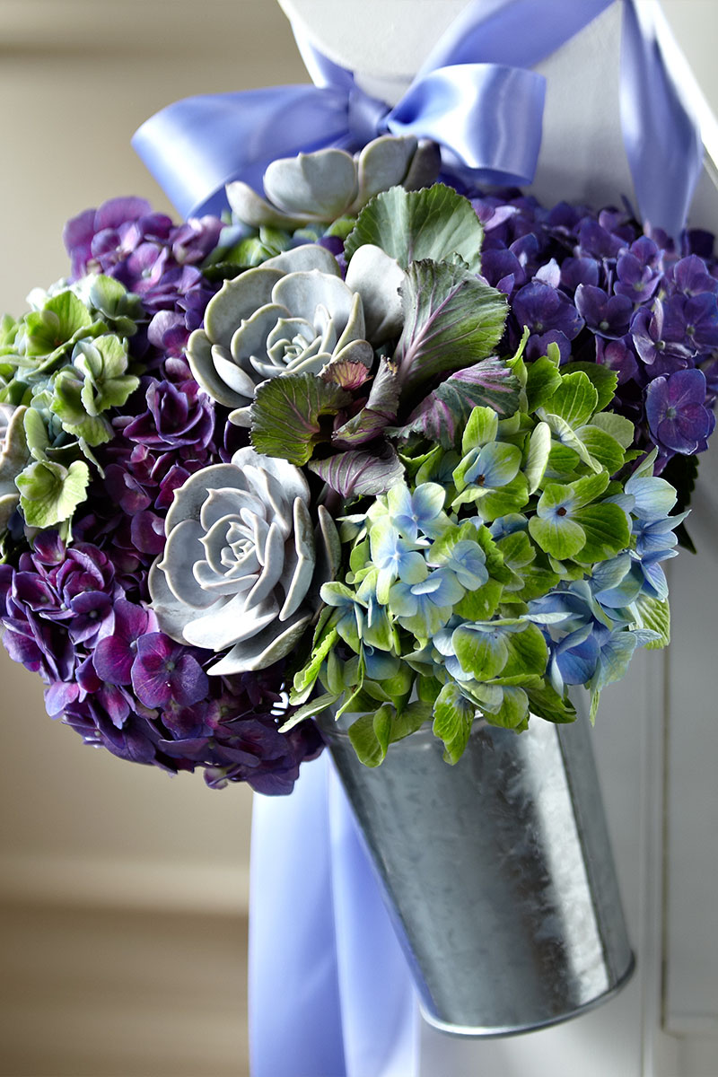 Purple Wedding Reception Flowers