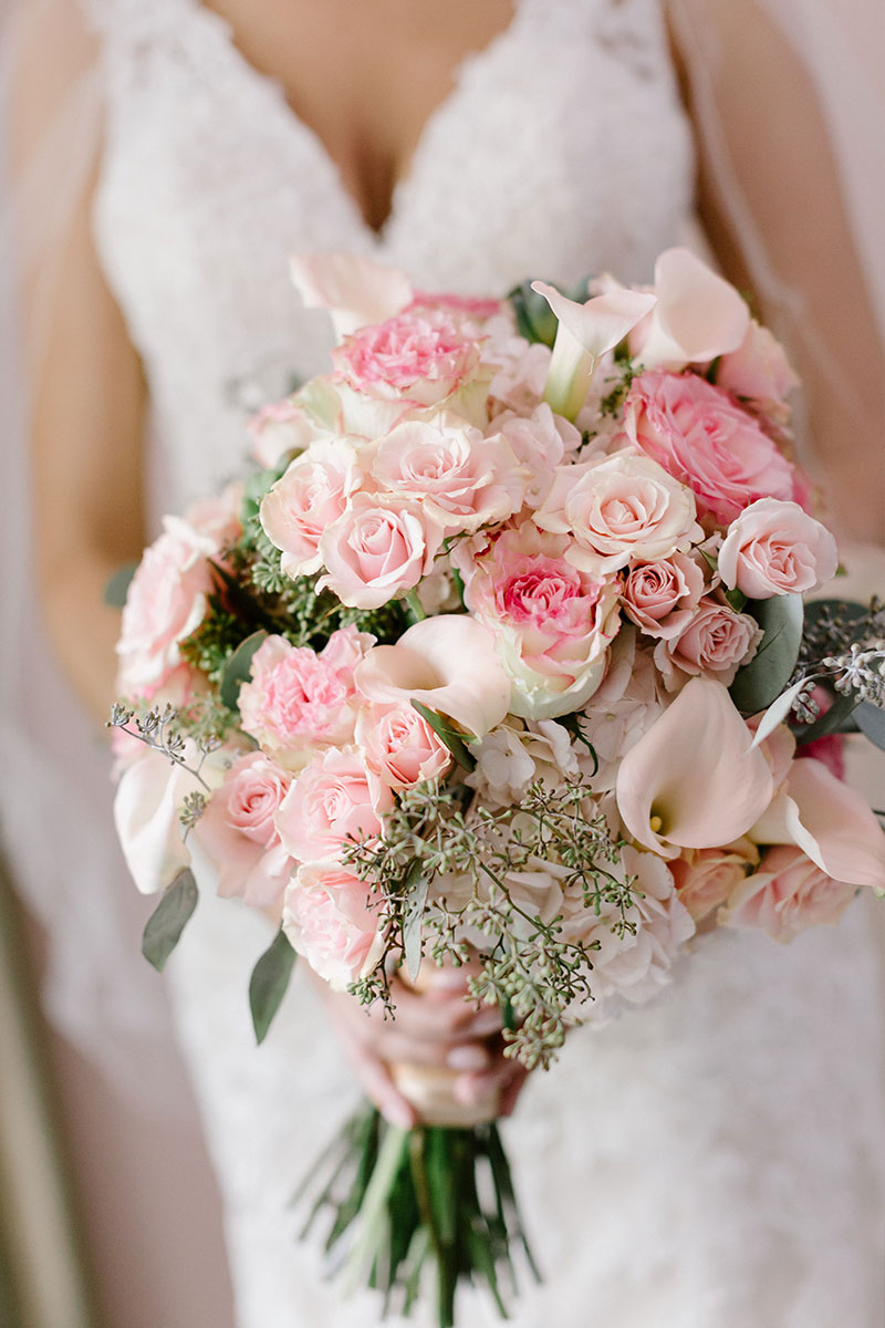 Soft Pink Wedding Flowers