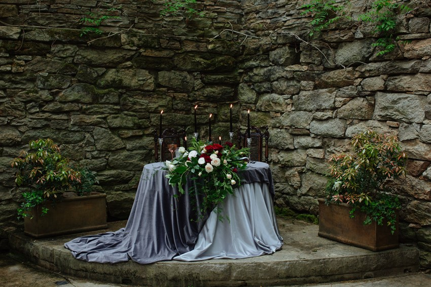 Styled Shoot Gothic Romance Inspiration Black Iris Floral Events