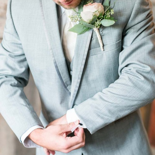 Rose Wedding boutonniere