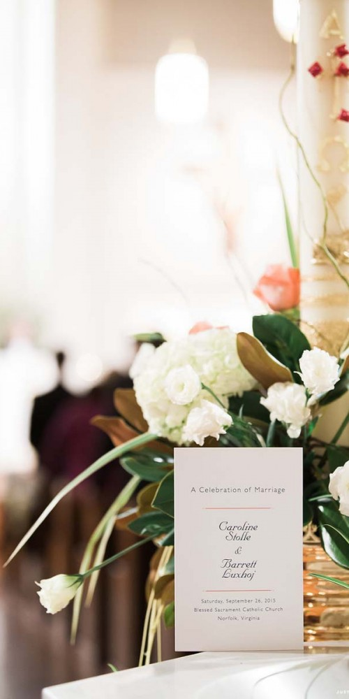 White Wedding Ceremony Flowers