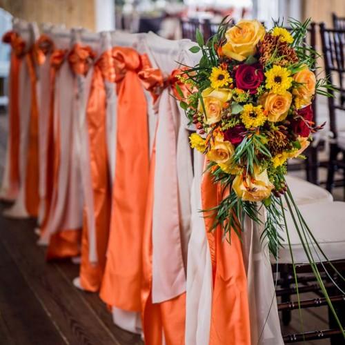 Fall Wedding Ceremony Flowers