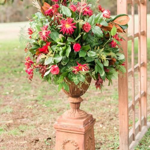 Red Ceremony Wedding Flowers