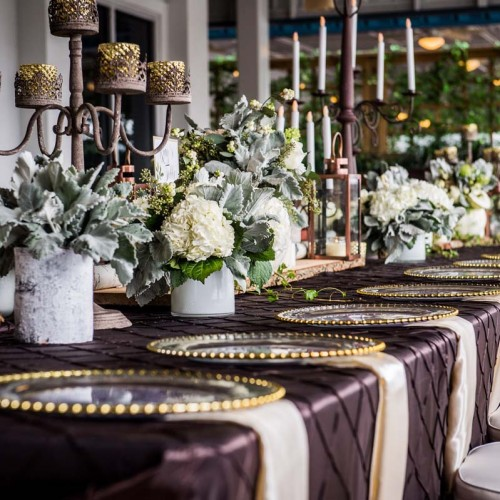 plumb wedding linens