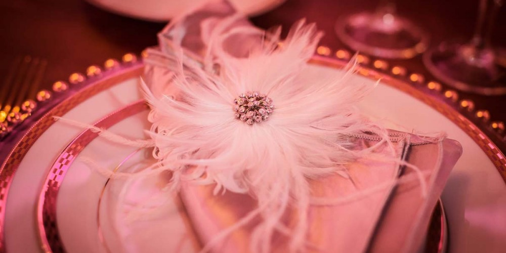 Feather Wedding Table Designs