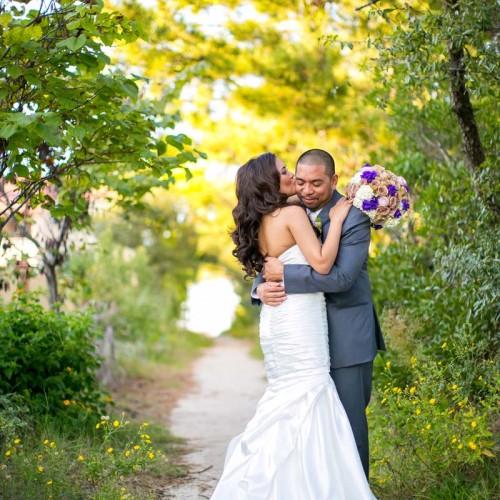 Large Purple Wedding Bouquets