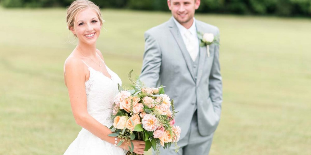 Peach Wedding Bouquet Bridal Bouquets