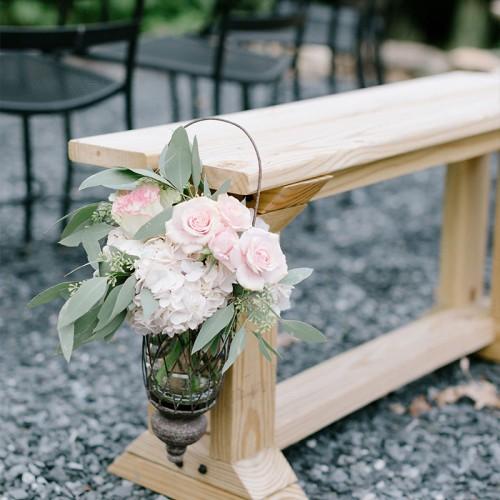 Soft Pink Wedding Ceremony Flowers