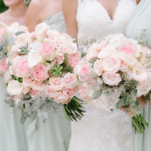 Soft Pink Bridal Bouquets