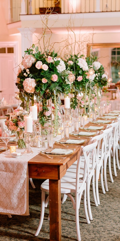 Pink Wedding Reception Flowers