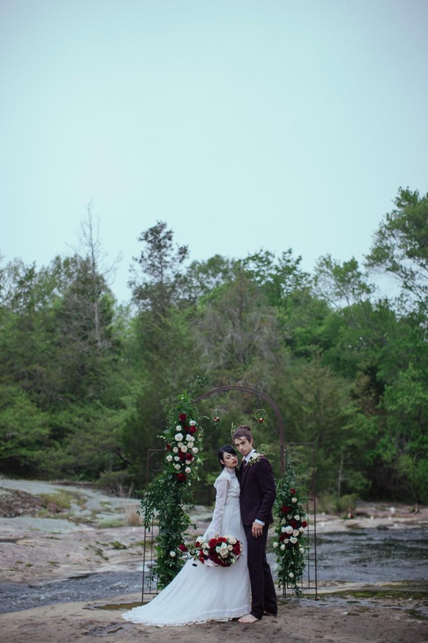 8-Gothic-Riverside-Wedding-Ceremony